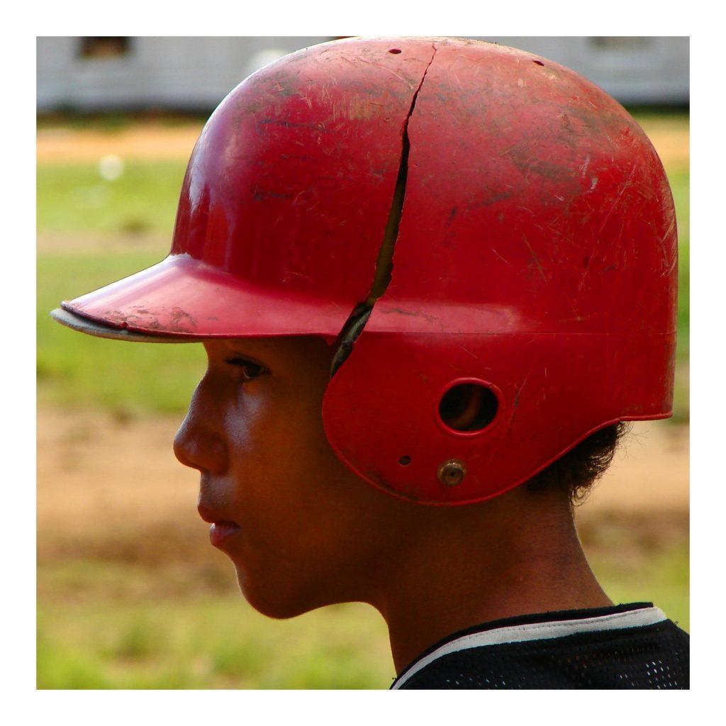 Młody gracz bejsbolu, Santo Domingo.