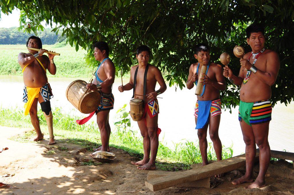 Emberá, kapela we wspólnocie Tusípono Emberá , rzeka Chagres, Panama