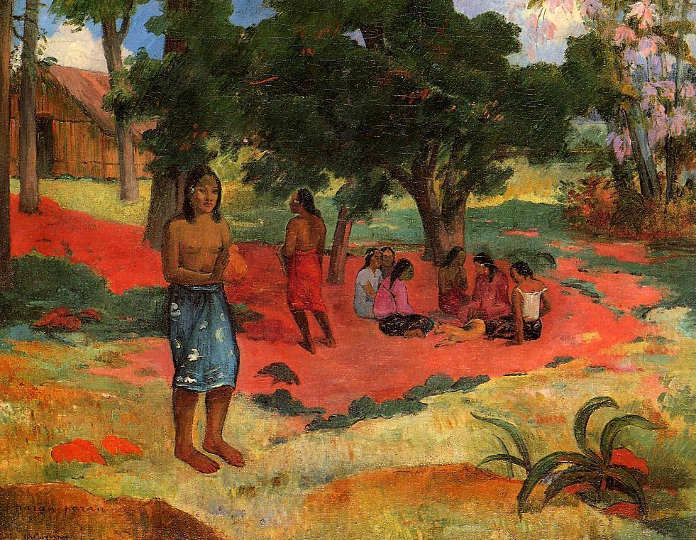 Paru Paru, obraz, malarz Paul Gauguin, Polinezja Francuska.