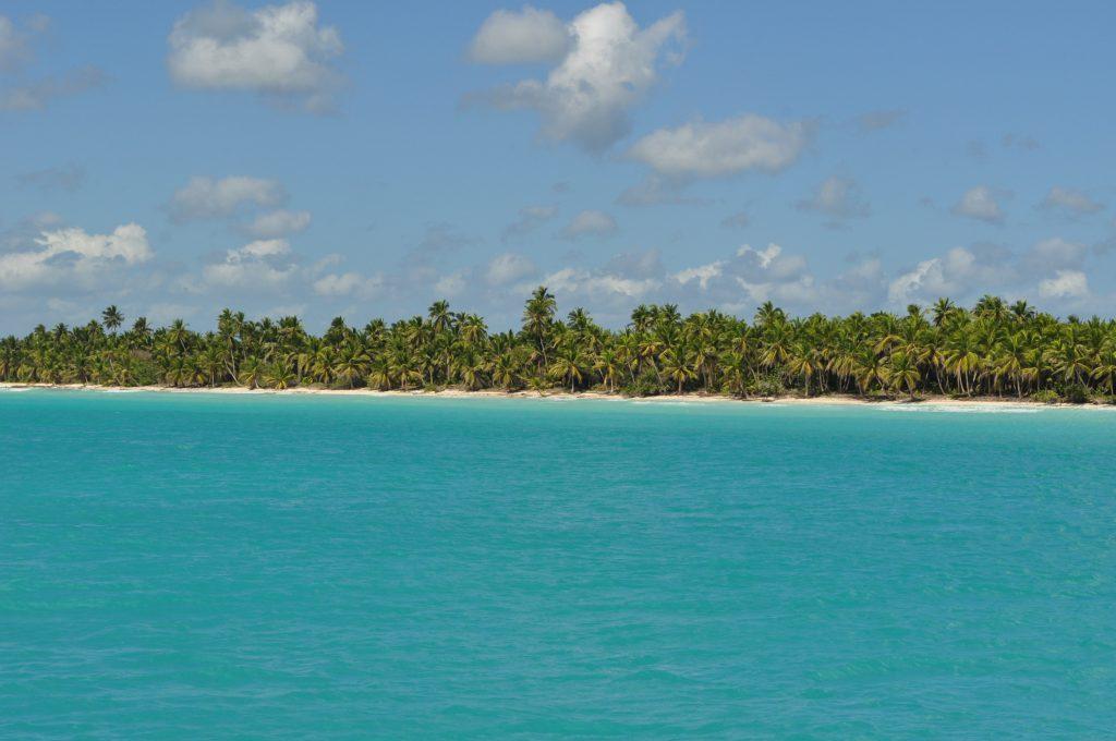Wyspa Saona, wybrzeże, plaża, Morze Karaibskie, Dominikana.