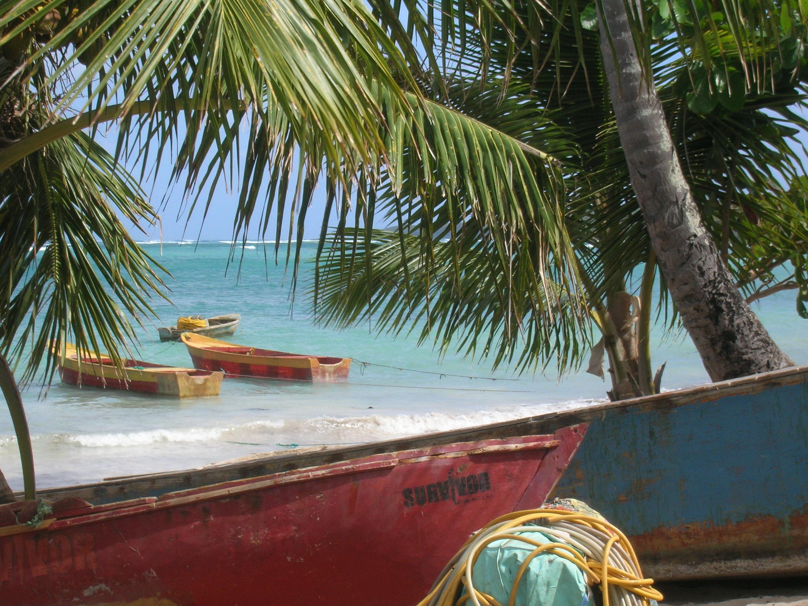 Dominikana, Plaża i łodzie w Las Galeras, półwysep Samana