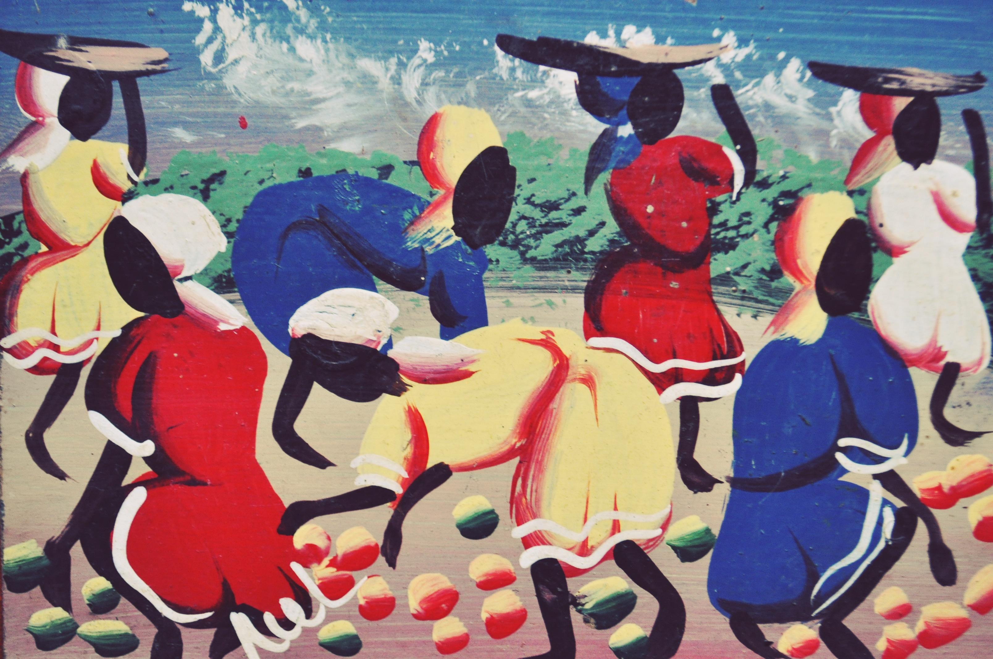Perejil, Ziele Zguby, fragment haitańskiego malarstwa prymitywnego
