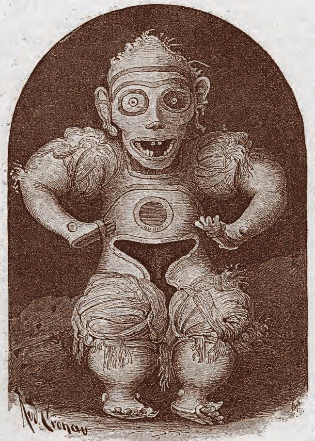 El Cemí de Algodón. Photo source: «Dioses...decorados con la aguja del bordador»: los materiales, la confección y el significado de un relicario Taíno de algodón, www.researchgate.net © British Library Board 9551.1.6